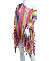 Tribal Stripes and Tassel Coverup Swimsuit Swimwear Beach Cover Up Poncho
