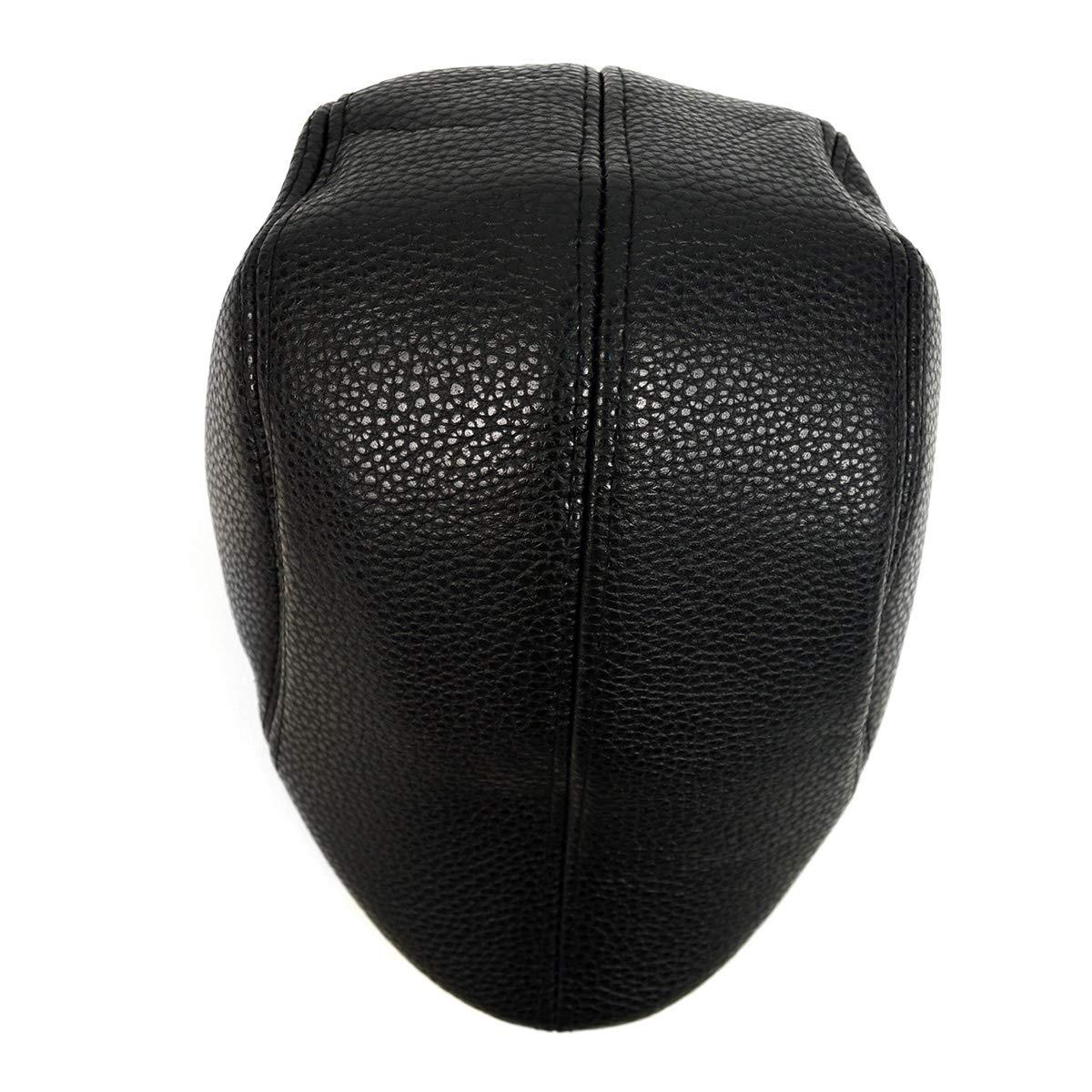 BG Black Leather Ivy Hat for Men Fall//Winter