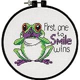 """Imparare-A-Craft uno primo sorriso contato punto croce Kit-6 """"rotondo"""