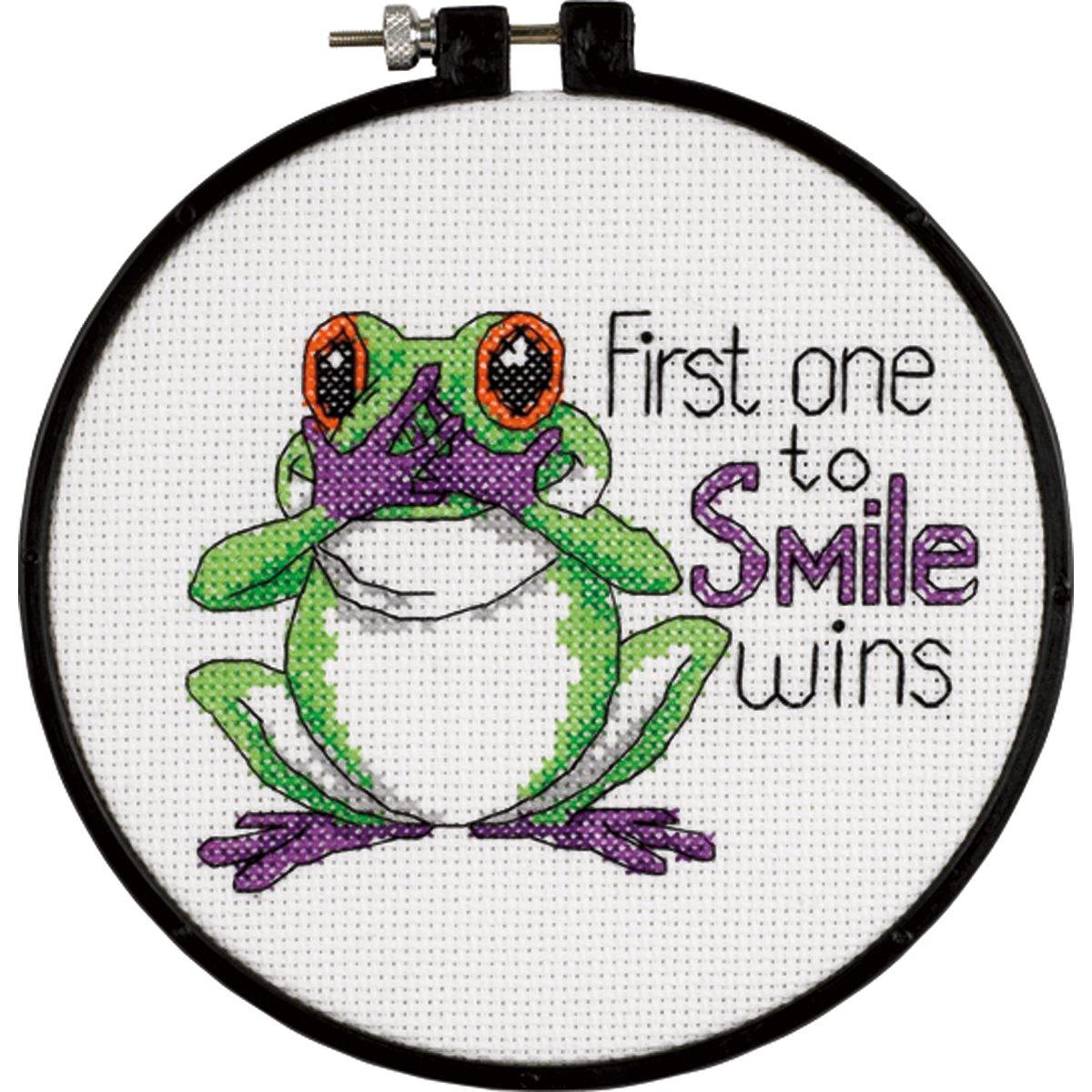 Dimensions Needlecrafts Stamped Cross Stitch Friendly Frog