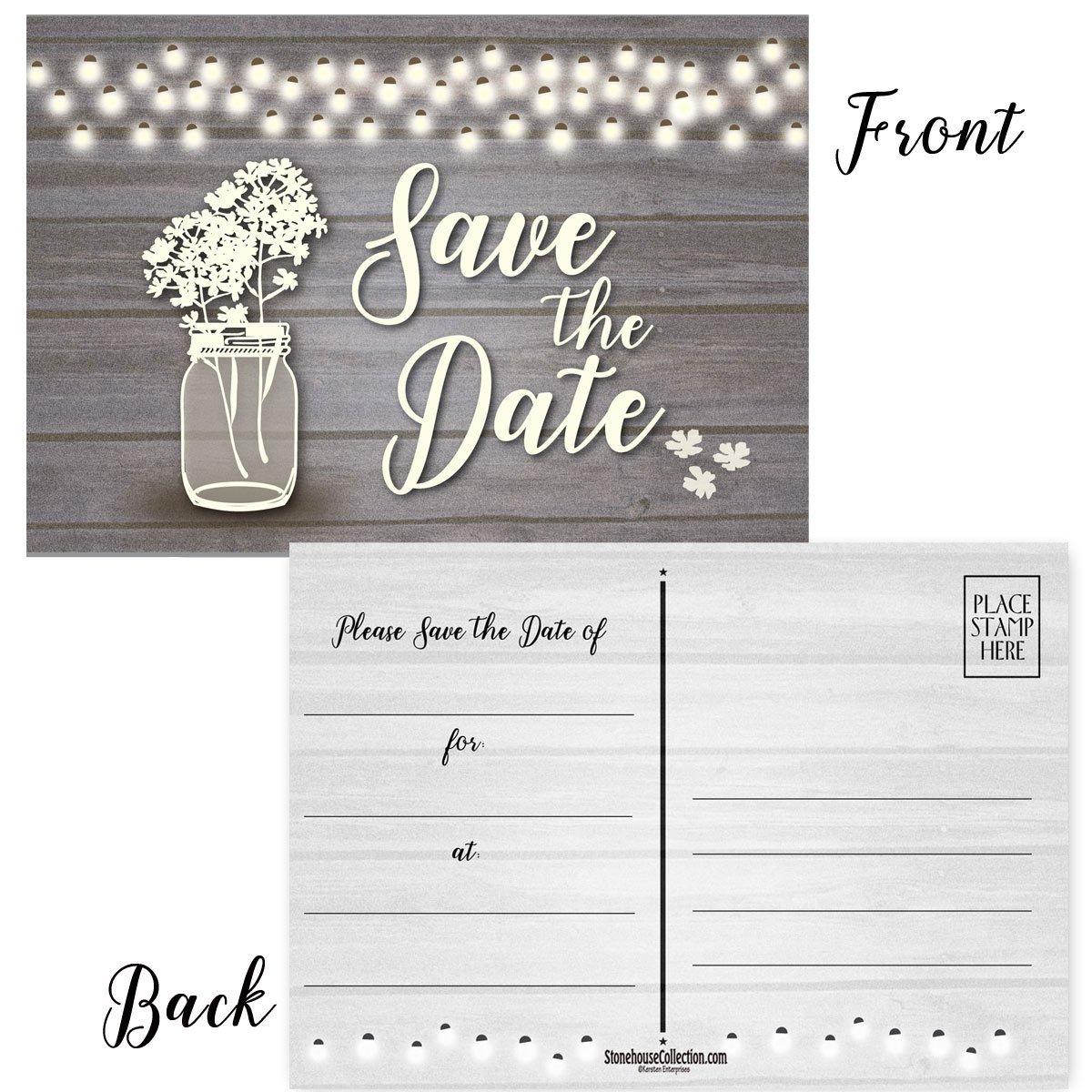 Amazon.com: 50 tarjetas postales de 3.9 x 5.9 in, para bodas ...