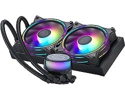 Cooler Master MasterLiquid ML240 Illusion Close-Loop AIO CPU Liquid Cooler, Translucent Dome, 3rd Gen Dual Chamber Pump, 240