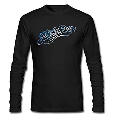 74f9778fe5d5 Amazon.com: XIXU Steely Dan Logo Men Long Sleeve Custom T Shirt ...