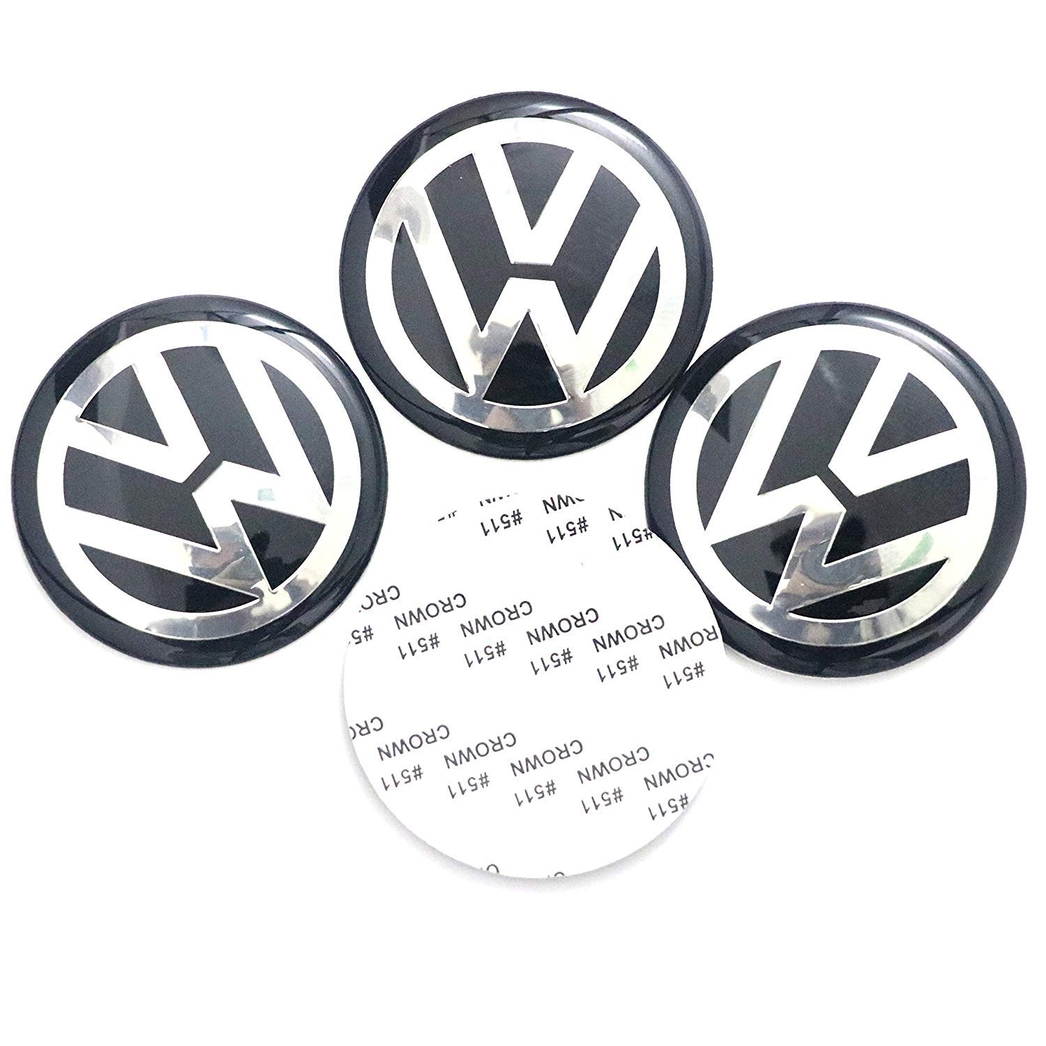 4 x 55mm diameter vw wheel center cap sticker emblem self adhesive for flat surfaces cheap price amazon ca home kitchen