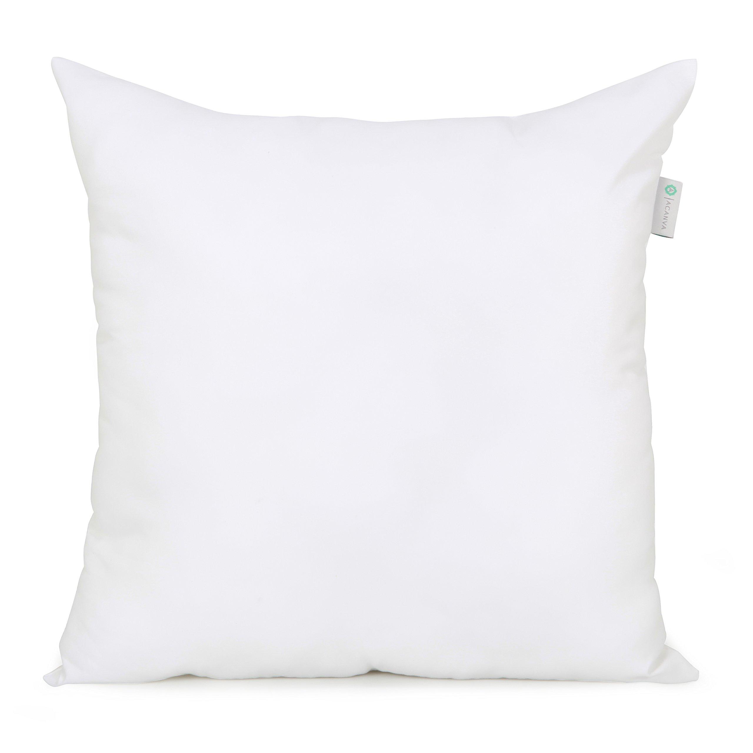 Acanva Down Alternative Pillow Insert Sham Form, Square, 24'' L x 24'' W