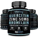 Quercetin 500mg Supplement, Zinc 50mg, Vitamin C, Vitamin D3 for Immune support, A Zinc Quercetin Supplement with Bromelain I