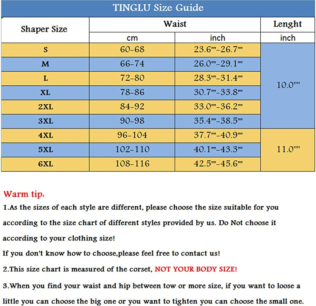 TINGLU Waist Trainer Corset Breathable and Invisible Waist Shaper Training Waist
