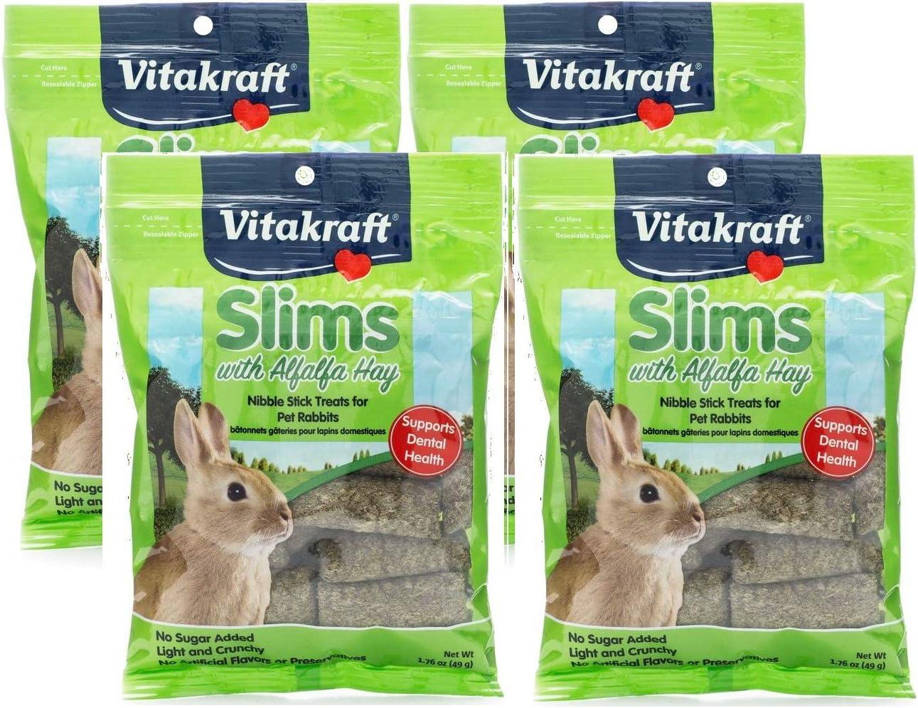 Vitakraft Mini Slims with Carrot Hamster /& Small Animal Nibble Stick Treat 1.76 oz