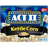 Act II Popcorn Kettle Corn, 6 Count (Pack of 6)