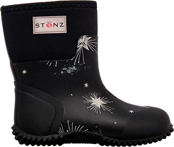 Stonz All-Season Neoprene Boots for Boys & Girls - Glow in The Dark - Insulated, Non-Slip, Comfortable Outdoor Hiking Play School