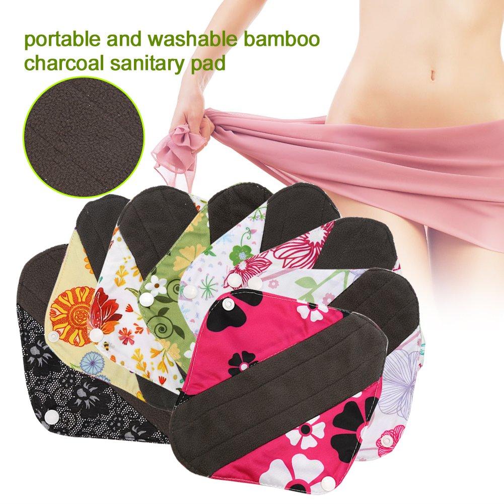 Cojín menstrual lavable, reutilizable Panty Liners de mujeres de tela de bambú toallas sanitarias Carbón capa externa (s)(WSD19): Amazon.es: Belleza
