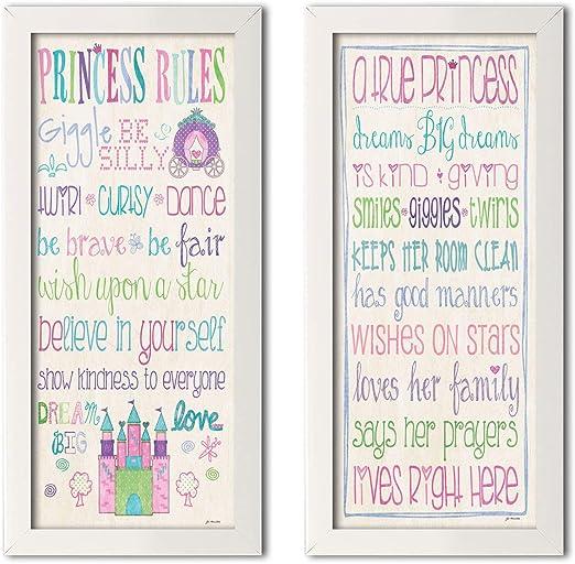 Adorable Princesa reglas y una verdadera princesa Set; Ideal para ...