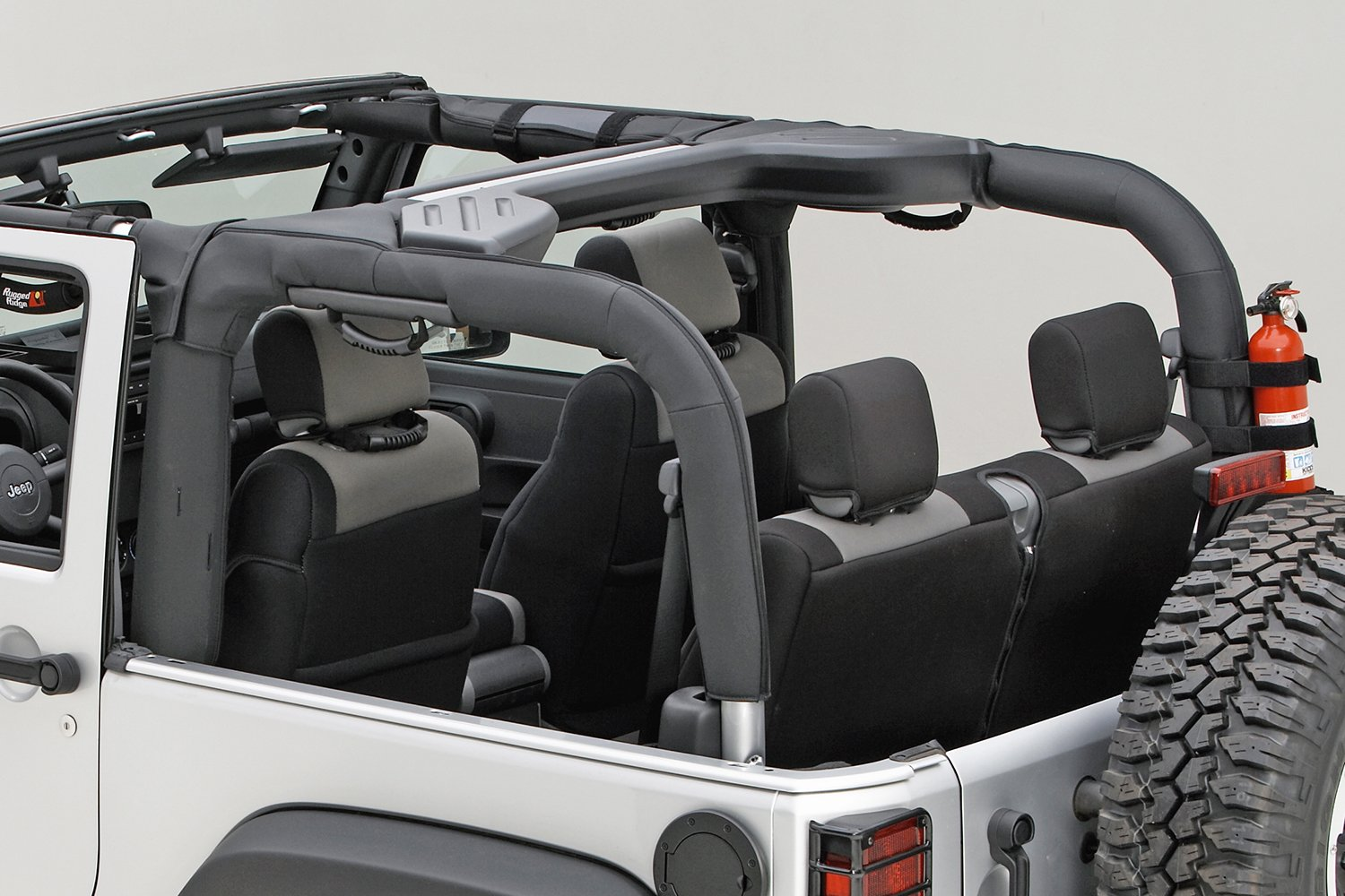 Rugged Ridge 13613.02 Black Polyester Roll Bar Cover