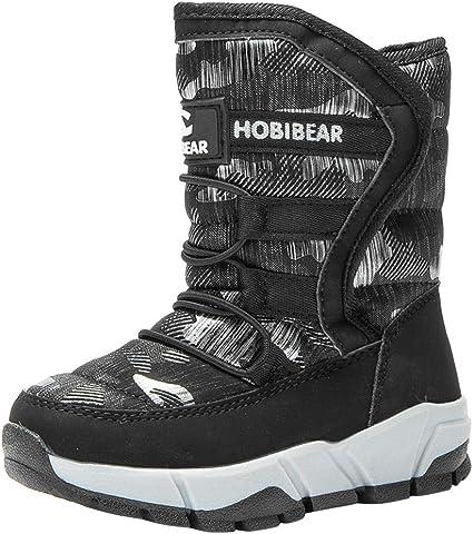 Amazon.com: Teens Boys Girls Snow Boots Winter Outdoor Waterproof Non-Slip  Warm Mid-Tube Cotton Boots: Sports & Outdoors