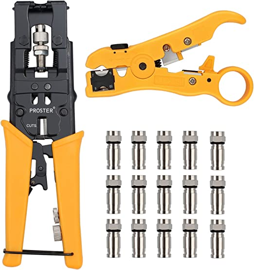 500 ft RG59 Siamese Security Camera Cable Stripper Connector Crimping Tool KIT