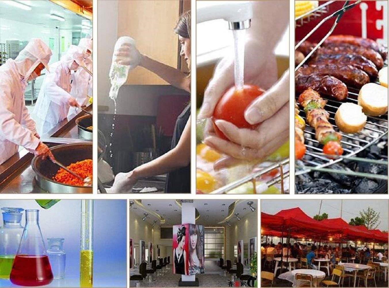 Cuisine et D/écoration cheap4uk Lot de 200 Gants Jetables en Plastique Poly/éthyl/ène Transparent sans Poudre et Confortables /à Porter pour Nettoyage