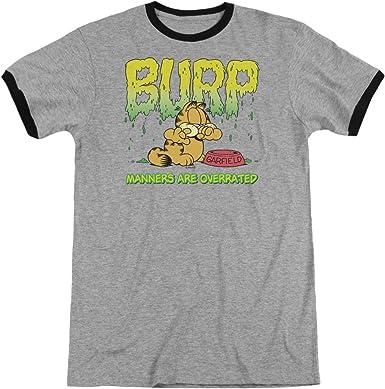 Shirt Manners Adult Ringer T Garfield