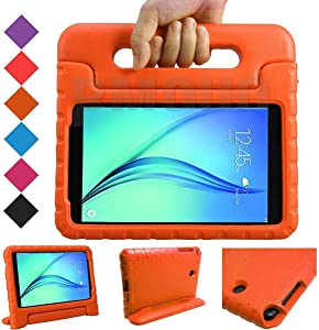 BMOUO Kids Case for Samsung Galaxy Tab A 8.0 (2015) SM-T350 - EVA Shockproof Case Light Weight Kids Case Cover Handle Stand Case for Kids Children for Samsung Galaxy TabA 8-inch Tablet - Orange