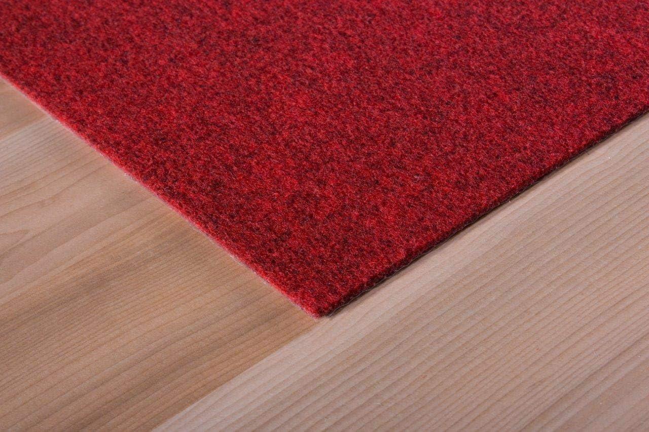 Colour:Red 40x40 each Size:4 m/² 4, 8 or 16m/² andiamo Self-Adhesive Felt Carpet Tiles Pack