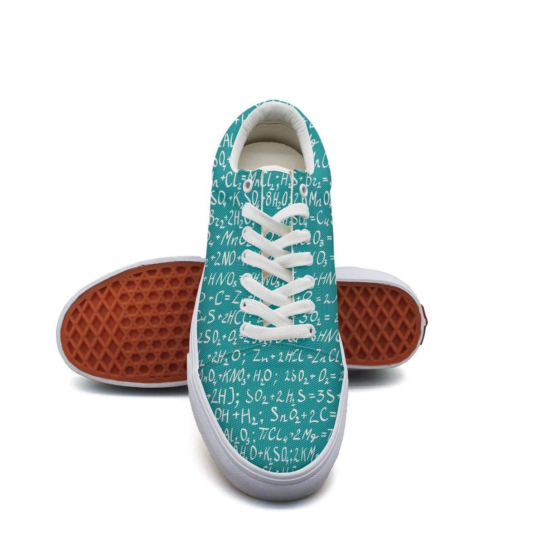 Ouxioaz Womens Fashion Sneaker Blue The Chemical Formula Work Shoe Laces
