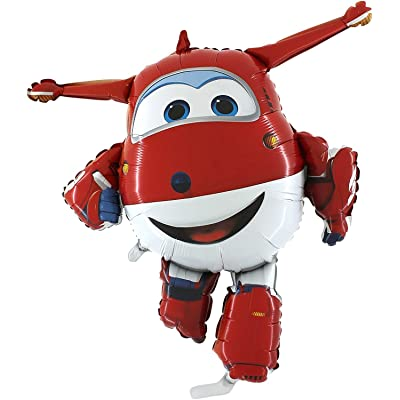 Toyland Super Wings Jett Airplane Foil Balloon: Toys & Games