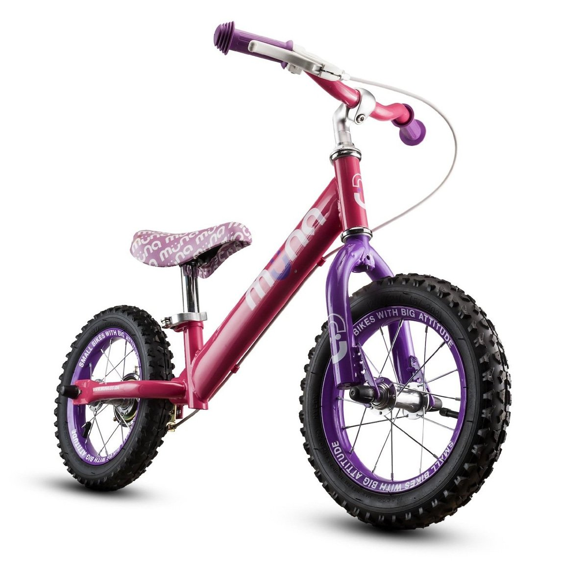 Muna Balance Bike 12 Wheels w/ Rear Hand Brake Muna Pinkie Balance Bicycle 12 Getting Fit MUNA430
