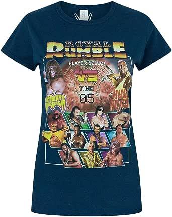 Vanilla Underground WWE Royal Rumble Women's T-Shirt Blue