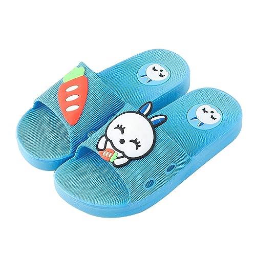 chaussures de séparation 3419d c8f41 QZBAOSHU Chaussures Enfants Garçon Fille Chaussons Été/Hiver Peluche  Pantoufles Lapin Dessin Animé Mignon