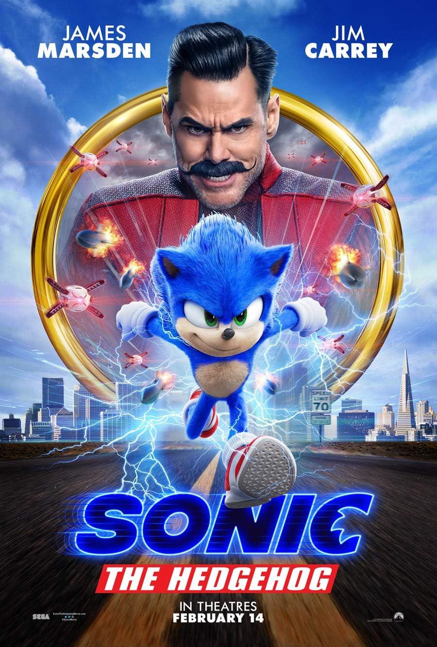 Amazon Com Sonic The Hedgehog Movie Poster 2 Sided Original