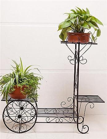 Im Freien Kraut Blumen Pflanze Steht Continental Iron Fahrrad Modelle Boden Flower Pot Regal