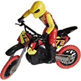 MXS Motocross Bike Toys Moto Extreme Sports, Bike & Rider with SFX Sounds by Jakks Pacific Action Figure Playsets - #72 Red &