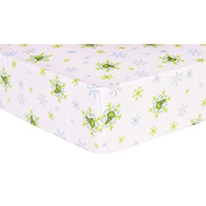 Trend Lab Dr. Seuss The Grinch Deluxe Flannel Fitted Crib Sheet