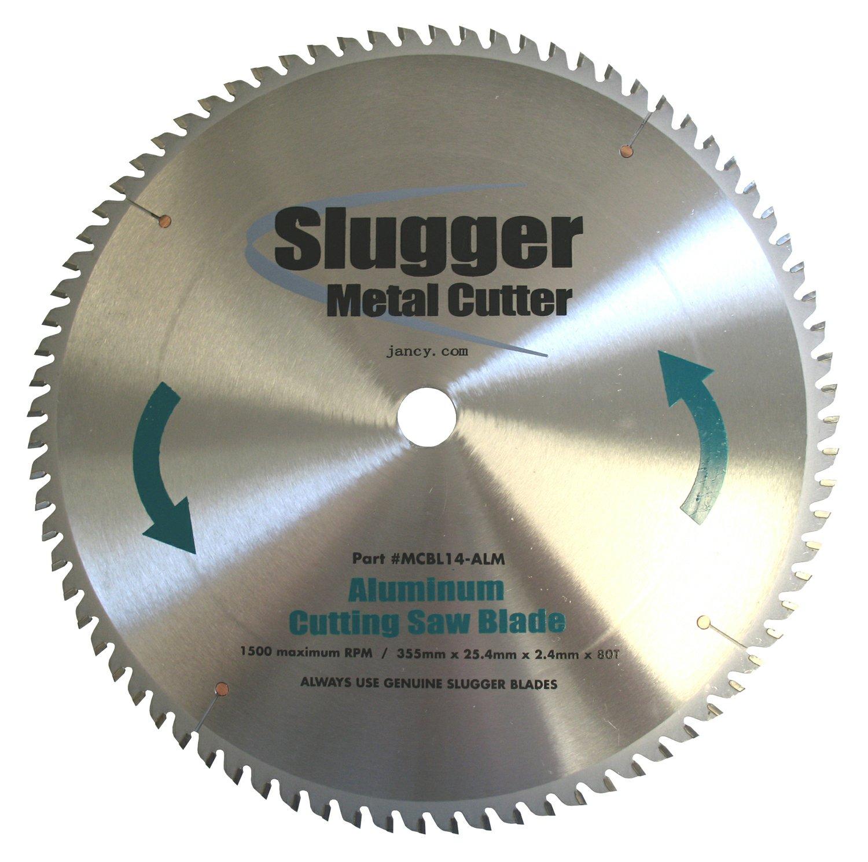 Jancy Slugger MCB14-ALM Aluminum Cutting Saw Blade, 14'' Diameter, 80 Teeth