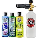 Chemical Guys HOL145 Torq Foam Cannon Snow Foamer and 3 Premium Soaps, 16 fl. oz, 4 Items
