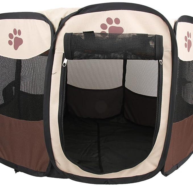 macrorun Plegable Mascota Tienda Juego Valla de Perro Perrera Perrera Plegable Juego de Deportes: Amazon.es: Productos para mascotas