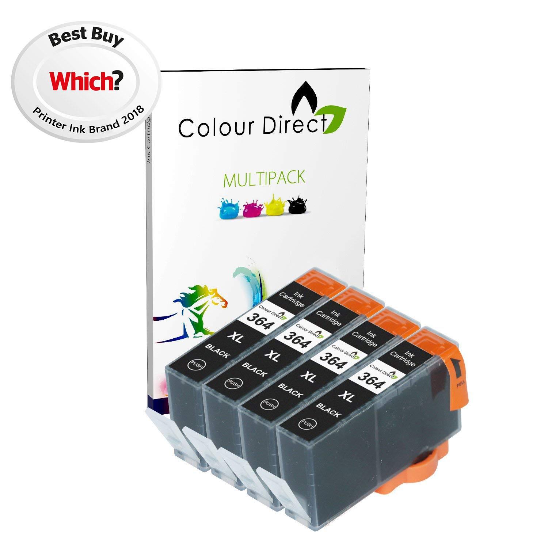 4 X Negro Colour Direct Compatible cartuchos de tinta Reemplazo ...
