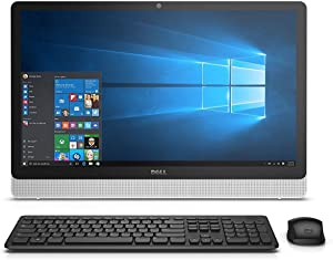 Dell Inspiron i3455-3240WHT 23.8 Inch All in One (AMD A6, 4 GB RAM, 500 GB HDD, White Bezel with SIlver Easel) (Renewed)