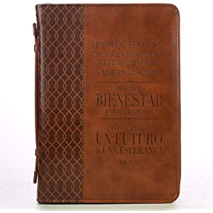 Jeremiah 29:11 Two-tone Bible / Book Cover - Forro para Biblia (
