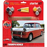 Airfix 1:32 Triumph Herald Scale Classic Car Gift Set including Paint, Glue and Brushes