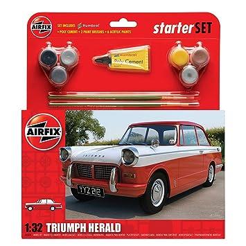 Airfix - Kit mediano con pinturas, coche Triumph Herald (Hornby A55201)