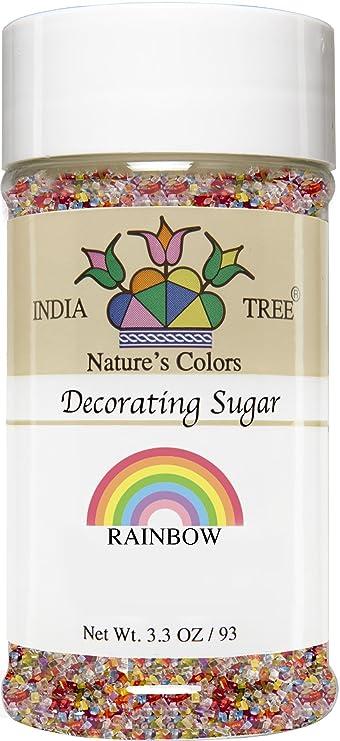Amazon.com : India Tree Nature\'s Colors Rainbow Mix Decorating Sugar ...