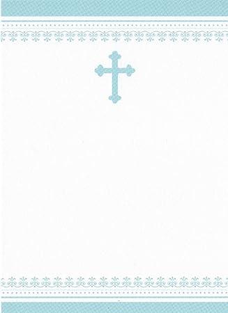 Amazon.com: Cruz Azul con cenefa Conjunto de 10, bautismo ...