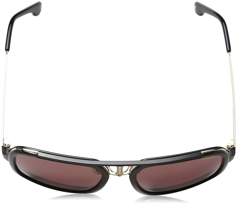 57 mm Carrera Mens Ca1004s Polarized Aviator Sunglasses BLACK GOLD//BURGUNDY POLARAIZED