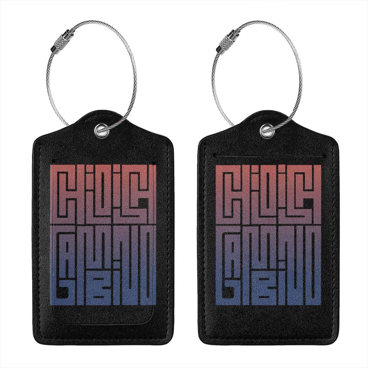 Childish Gambinos Leather Luggage Tag Travel ID Label For Baggage Suitcase