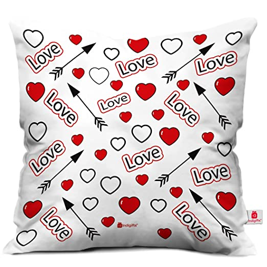 indibni Targeting amor cubierta de impreso suave cojín con ...