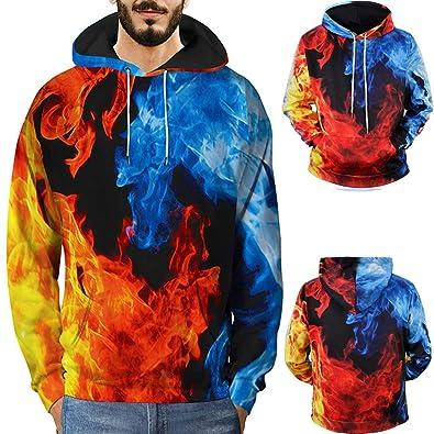 51bd3f6e3478f Amazon.com: Amiley mens hoodies,3D Red Blue Hoodies Flame 3D Printed  Sweatshirt Flame Hoodies Sweatshirt: Shoes