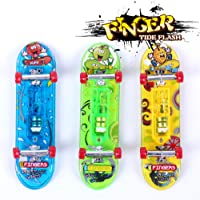 Sipobuy 3pcs Mini Skateboard Toy Deck Truck Finger