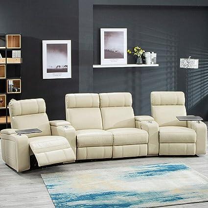 Super Amazon Com Heavens Tvcz Home Theater Seat Power Sofa Pu Creativecarmelina Interior Chair Design Creativecarmelinacom