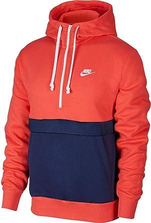 Nike Sportswear Club Sweat à Capuche en Polaire à Fermeture Éclair CoralNavy