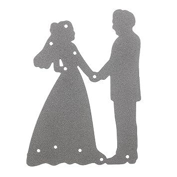 KING DO WAY Stanzschablone Brautpaar Braut Muster Schneideisen ...